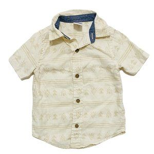 Gymboree Ethnic Print Linen Blend Collared Shirt